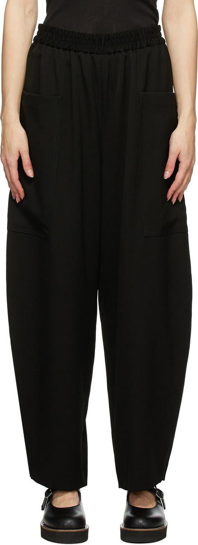 Y's By Yohji Yamamoto Black Wool N-Pocket Trousers
