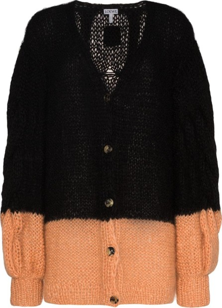LOEWE Colour-block cable-knit cardigan