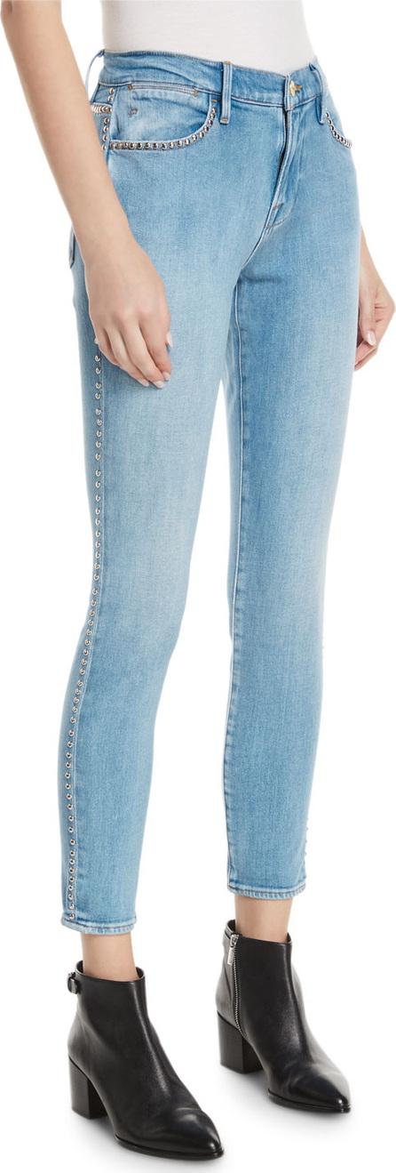 FRAME DENIM Le Studded High-Waist Skinny Jeans