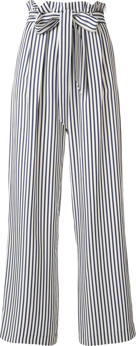 Harmony Belted striped trousers