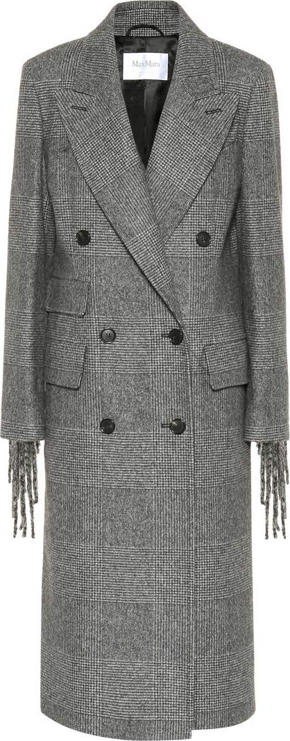 Max Mara Laser fringed wool coat