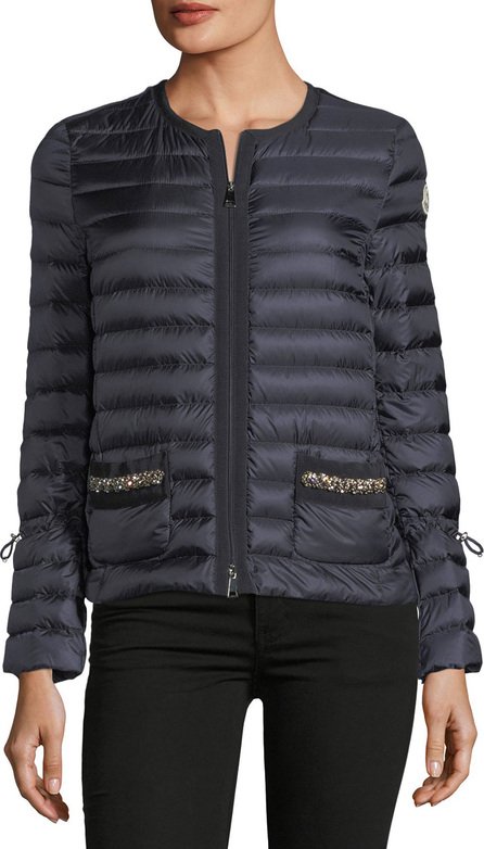 Moncler Alma Sequin Pocket Quilted Jacket