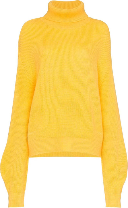 All Things Mochi Vera high neck cutout wool blend sweater