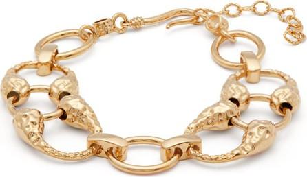 Attico Hammered gold-plated ankle bracelet