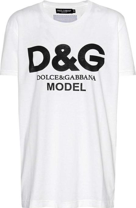 Dolce & Gabbana Model printed cotton T-shirt