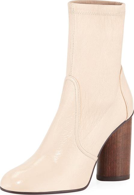 Stuart Weitzman Margot 95mm Stretch-Leather Block-Heel Booties