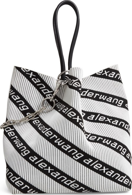 Alexander Wang Large Roxy Logo Knit Jacquard Tote