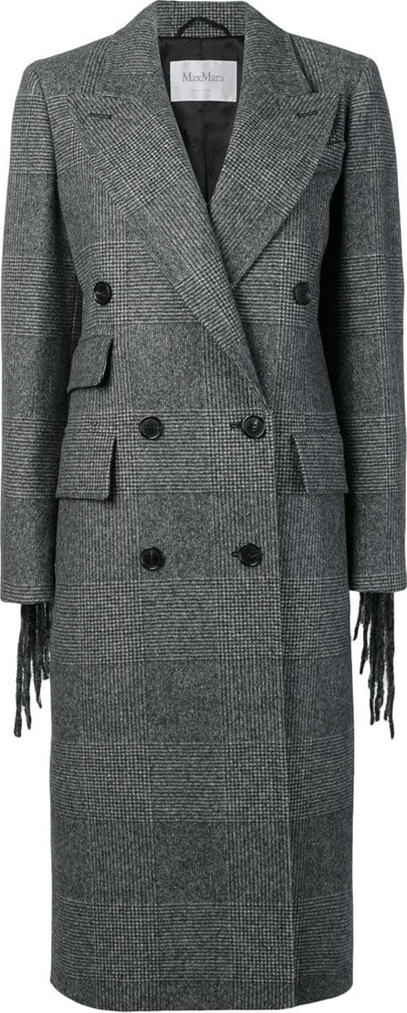 Max Mara Fringed double-breasted coat
