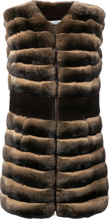 Oscar De La Renta Fitted fur vest