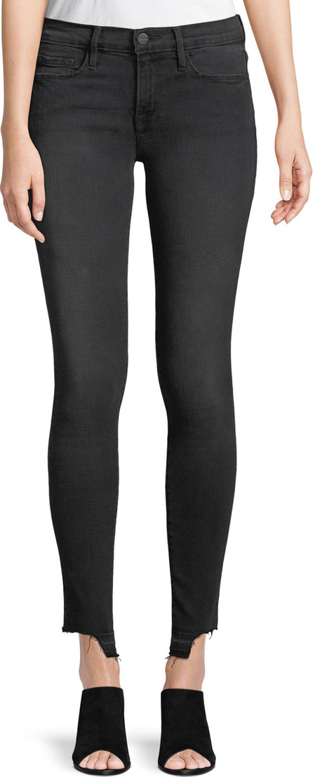 FRAME DENIM Le Skinny de Jeanne Cropped Skinny Jeans w/ Released Hem