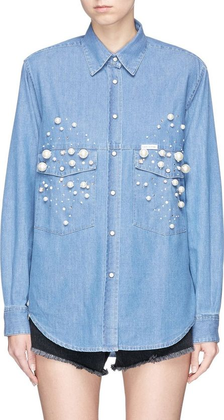 Forte Couture 'Dyna' embellished denim shirt