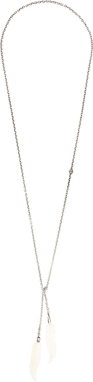 M. Cohen Feather pendant necklace