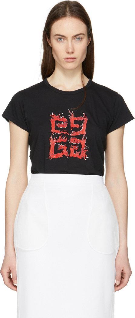 Givenchy Black Flame 4G T-Shirt