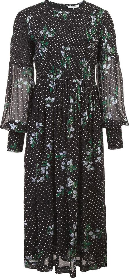 Ganni Ruched floral dress