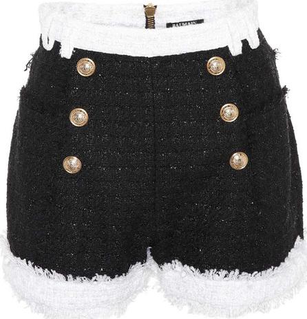 Balmain Frayed trim tweed shorts