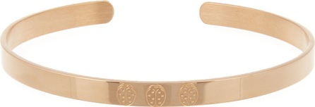 Ladybird-engraved rose-gold plated cuff Aur nPStyn3
