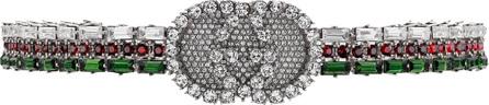 Gucci Crystal Web choker