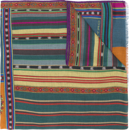 Etro Cashmere blend patterned scarf