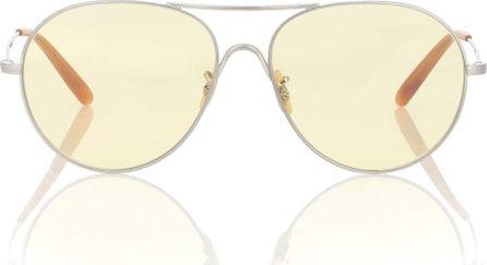 Oliver Peoples Steel Man aviator sunglasses