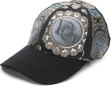 Dolce & Gabbana Stained glass jacquard-effect baseball cap