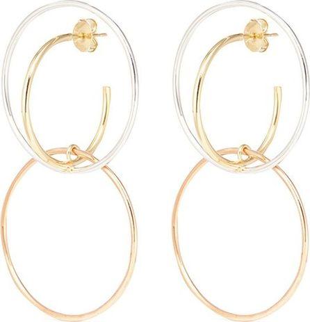 Charlotte Chesnais 'Galliea' medium intersecting hoop drop earrings