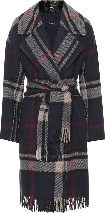 Max Mara Pioggia checked wool coat