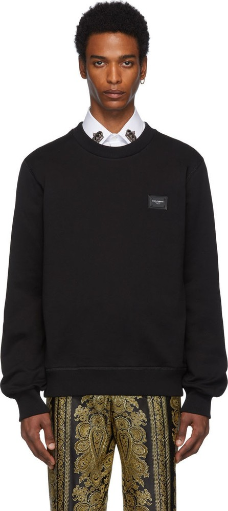 Dolce & Gabbana Black Plaque Sweatshirt