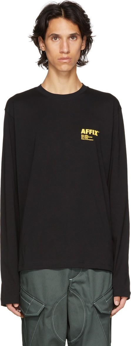 Affix Black Logo Print Long Sleeve T-Shirt