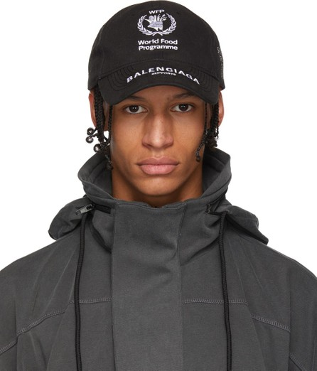 Balenciaga Black World Food Programme Cap