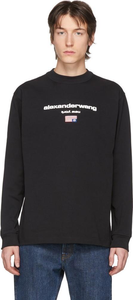 Alexander Wang Black Graphic Logo Long Sleeve T-Shirt
