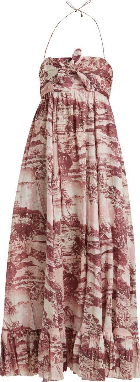 Zimmermann Kali Hawaiian-print linen dress