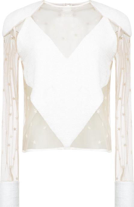 Andrea Bogosian Tulle panels blouse