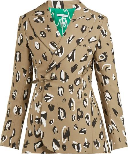 Charles Jeffrey Loverboy Leopard-print safety-pin wool blazer