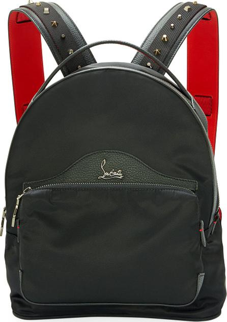Christian Louboutin Backloubi Small Nylon Backpack, Black