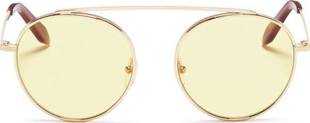 Victoria Beckham Browline bridge metal round sunglasses