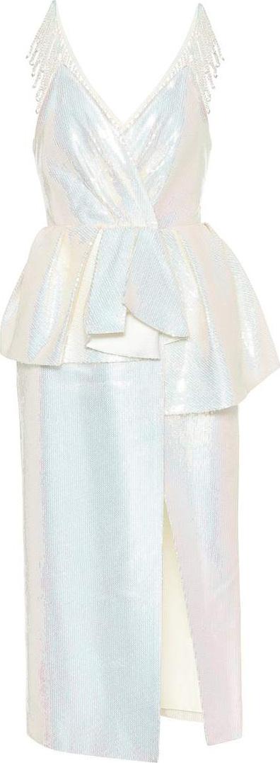 Huishan Zhang Bloomfield sequined dress