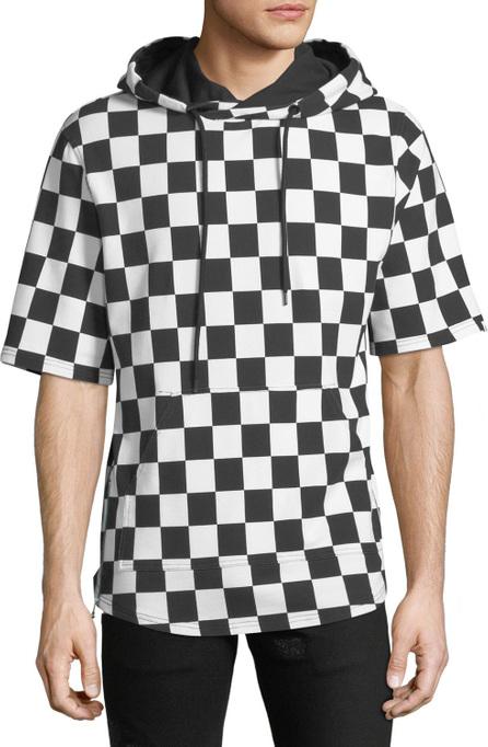 PRPS Men's Checkered Short-Sleeve Hoodie