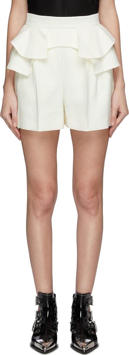 Alexander McQueen Tiered ruffle waist shorts