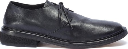 Marsell Concrete-effect heel distressed leather Derbies