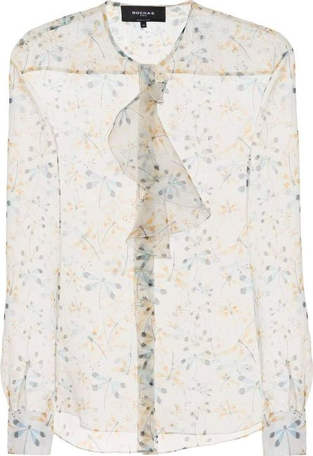 ROCHAS Printed  silk blouse
