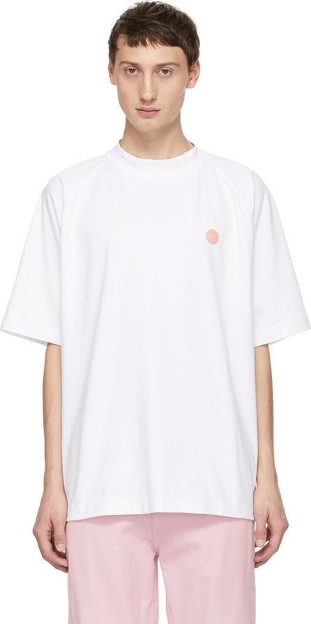 Acne Studios Blå Konst White Bassetty Uni T-Shirt
