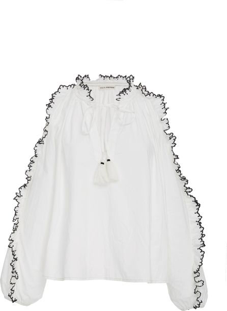 Ulla Johnson Amandine Scalloped Blouse