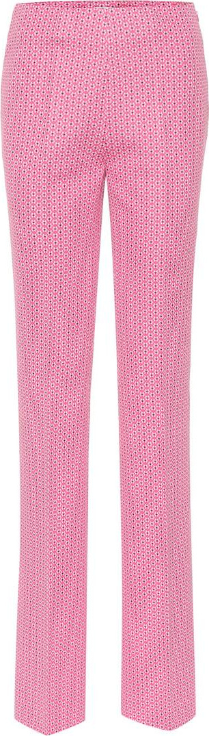 Miu Miu Printed cotton-blend pants
