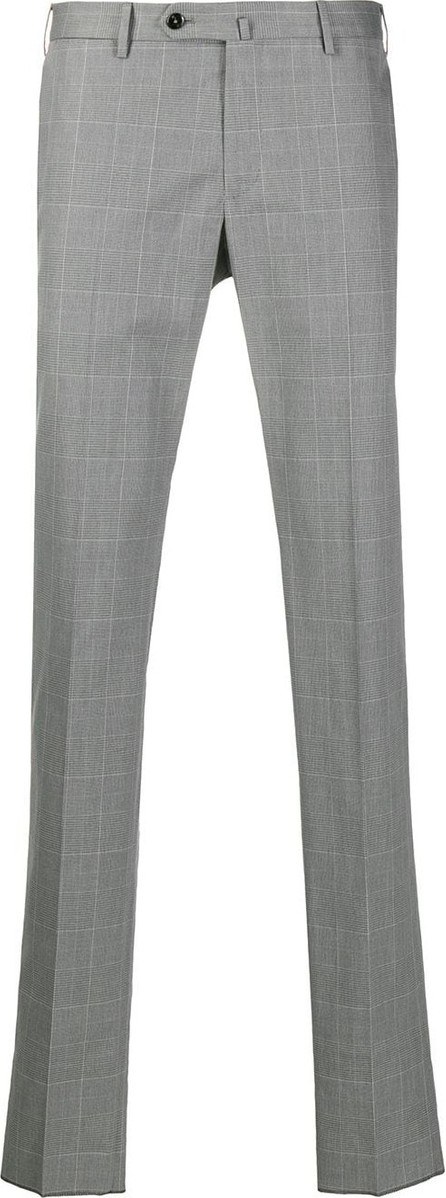 Pt01 Checked slim-fit trousers