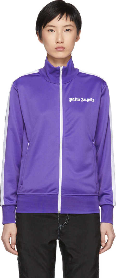 Palm Angels Purple & White Classic Track Jacket