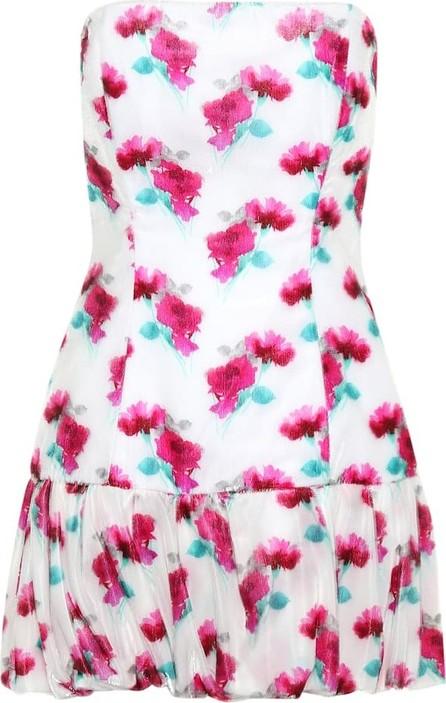 Attico Floral velvet minidress
