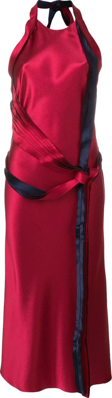 Knot-tied halterneck dress