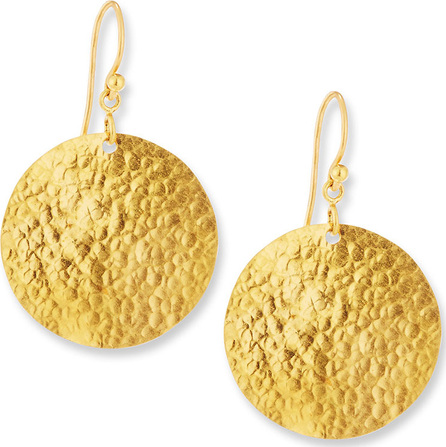 GURHAN Classic Lush Dangling Flake Earrings in 24K Gold
