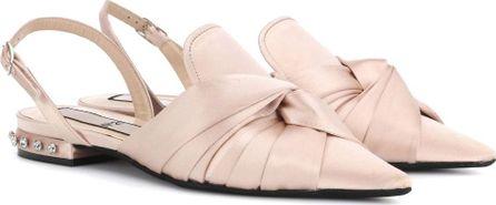 Satin slingback ballerinas