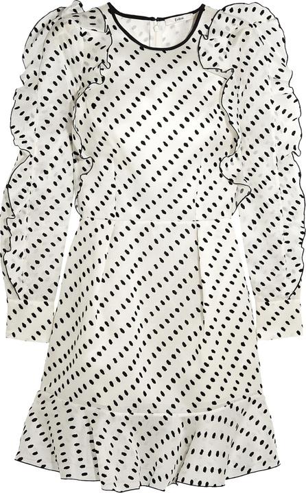 Erdem Liora flocked woven silk mini dress